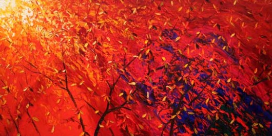 Autumn Rustling Leaves - abstract art