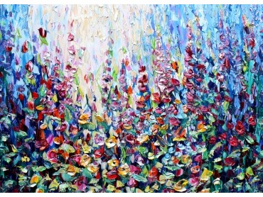 Expression of Flowers - contemporary impasto floral impressionism