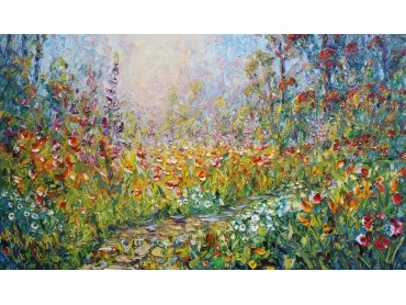 5. Reminiscing on Light and Flowers - impasto floral impressionism