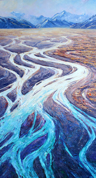 Braided River Oil on Canvas